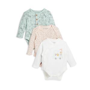 """Babyworld"" Bodys für Neugeborene, 3er-Pack"