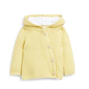 Gelber Cardigan mit Kapuze für Neugeborene
