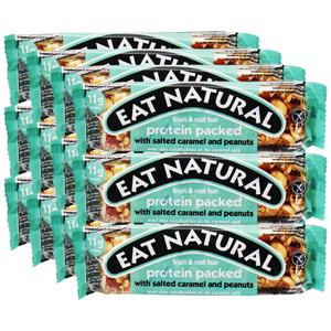 Eat Natural Salted Caramel & Peanuts Proteinriegel, 12er Pack