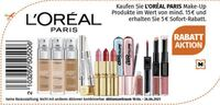 Gutschein:      5 € Rabatt auf L'Oréal Paris Make-Up Rabatt-Aktion      Rabatt auf L'Oréal Paris Make-Up Rabatt-Aktion bei Müller